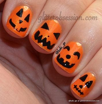 halloween nail art challenge pumpkin