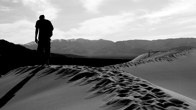 Kyle hiking the dunes