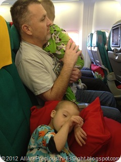 Cooper and Conner travel HOME Kiev to Austin 1679