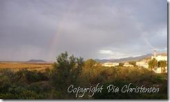 Morgenstund på altanen med udsigt til regnbuen