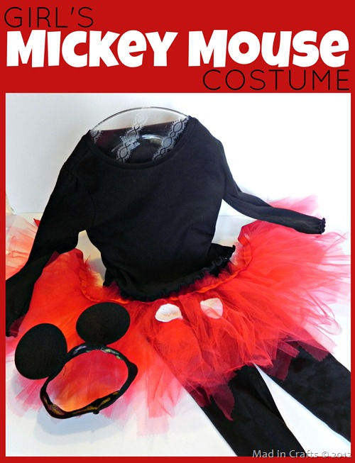 Girls Mickey Mouse Costume
