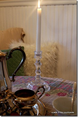 a walk in the countryside: crystal candlestick by godfinger