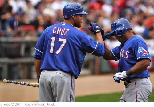 'Nelson Cruz and Adrian Beltre' photo (c) 2011, Keith Allison - license: http://creativecommons.org/licenses/by-sa/2.0/