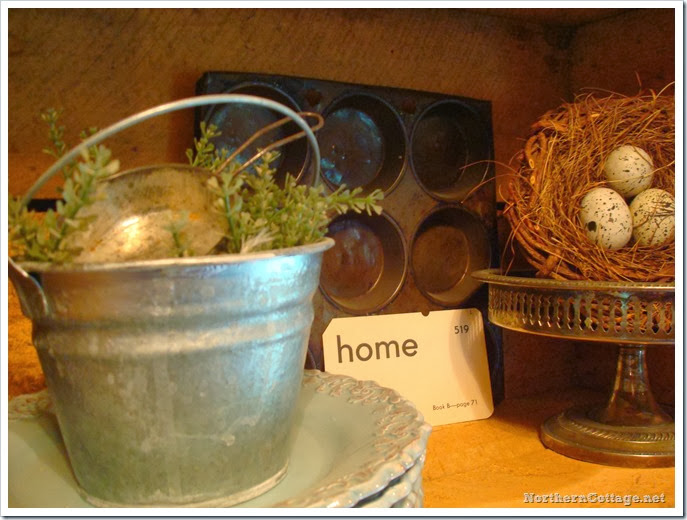 {Northern Cottage} vintage items used in a new way!
