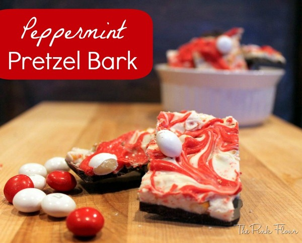 Peppermint Pretzel Bark from www.thepinkflour.com