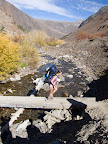 Maria crossing McGee Creek (Picture by Eng-Shien Wu)