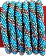 rollover bracelet blue