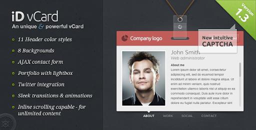 Premium virtual business card html templates id vcard unique id vcard unique premium vcard template maxwellsz