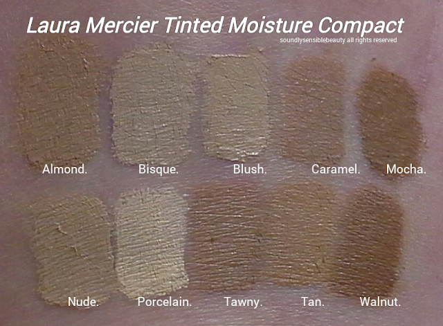 Laura Mercier Tinted Moisturizing Creme Compact SPF 25 Review & Swatches of Shades