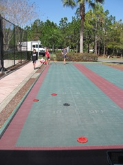 Florida Marriott Cypress Harbour shuffleboard area