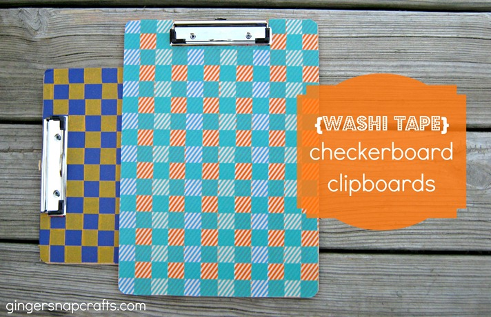 clipboards with washi tape