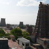 Temple Sri Meenakshi depuis notre terrasse