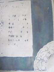gelli printed papers clearing off inks from plate2