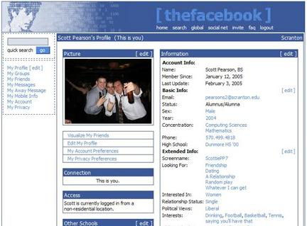 Facebook през 2004