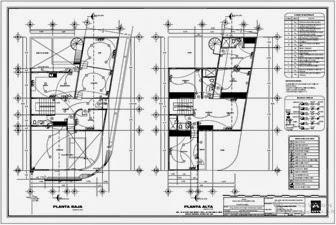 Planos de casa Autocad