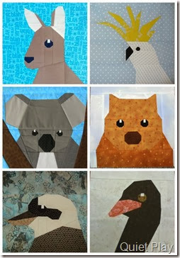 Australian Animals Paper Pieced