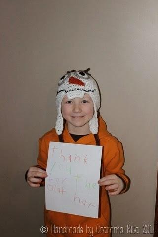 Clayton wearing Olaf hat