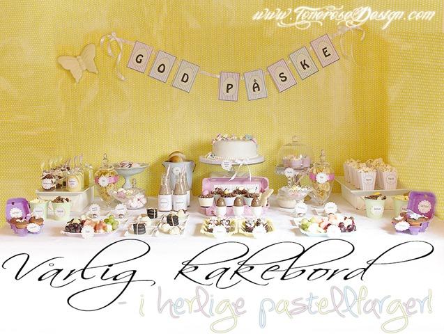 vårlig kakebord i herlige pastellfarger IMG_7506