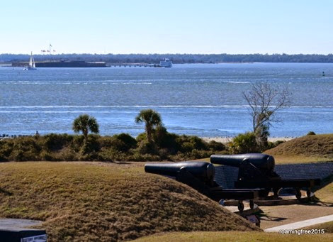 Fort Sumter in the distance