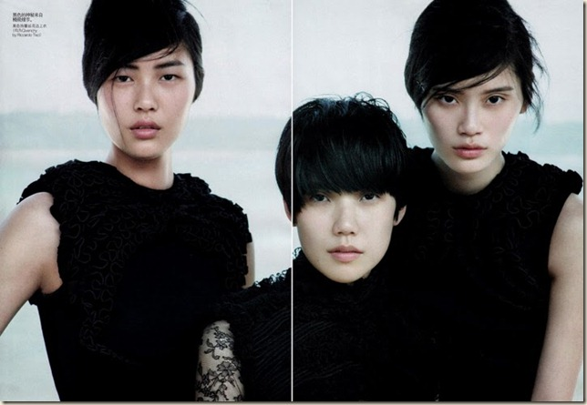 My pick - Vogue China Liu Wen, Toa, Ming Xi