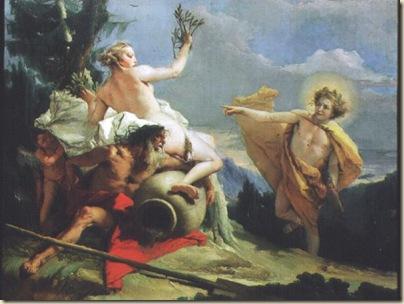 Daphne et Apollon d'aprèsTiepolo