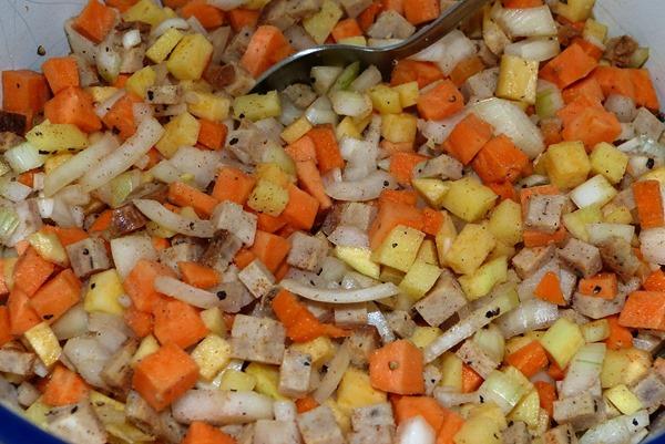 Vegetables - овощи для начинки Корниш пасти