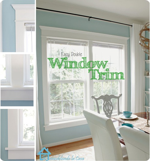 easy way to install window trim