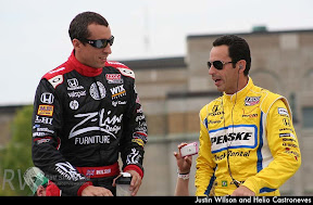 Justin WIlson and Helio Castroneves