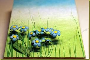 Незабки, трава
