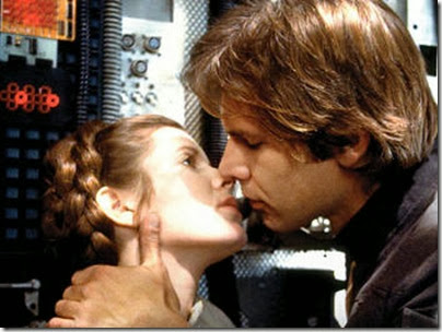 star wars han leia kiss