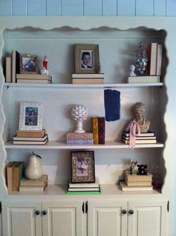before bookcase
