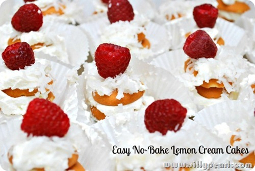 Easy No Bake Lemon Cream Cakes