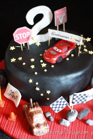biler kake_cars_bursdag_barnebursdag_kake