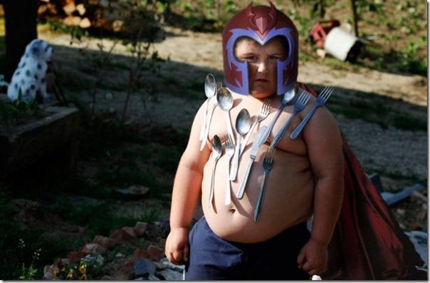 Magneto quando era criança