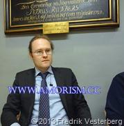DSC07144 (1) Bättrad Fredrik Vesterberg ordförande på Bibelsamtal i Adolf Fredriks församling. Med amorism