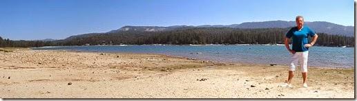 2 pan lake shore with Carol PE