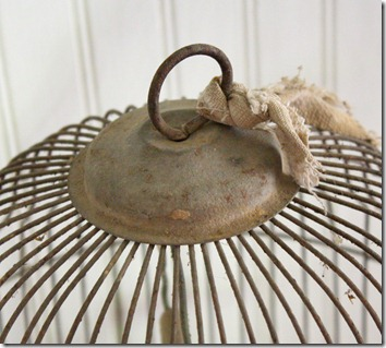 vintage bird cage details