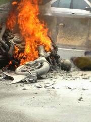 Gambar Kemalangan Motosikal Kuasa Tinggi Di Karak