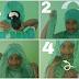 Cara memakai jilbab pasmina | segi panjang