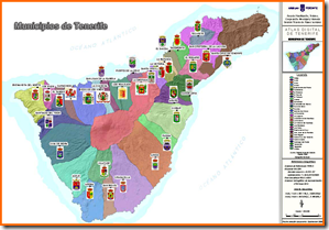 Mapa Municipios de Tenerife2