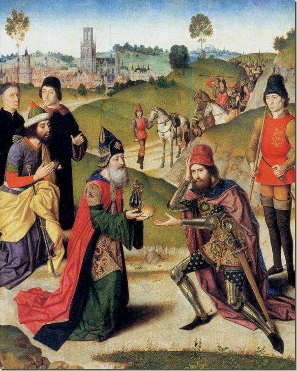Dirck Bouts, La rencontre d'Abraham et Melchisedek
