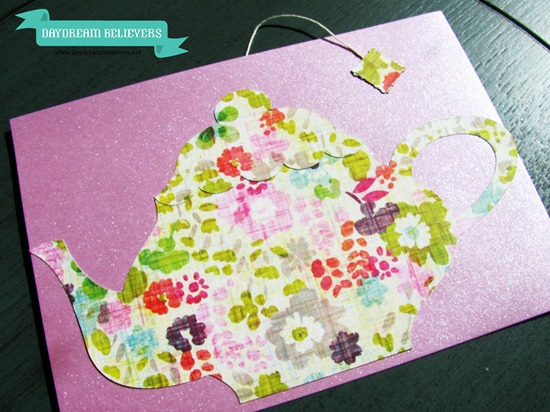 handmade diy tea party invitations