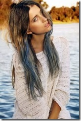 pelo teñido mitad