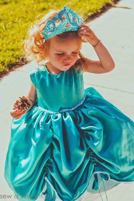 5 & 10 designs princess dress sew a straight line-5