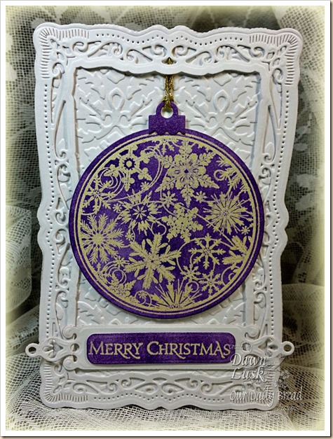 Our Daily Bread designs, Christmas Pattern Ornaments, Circle Ornaments dies