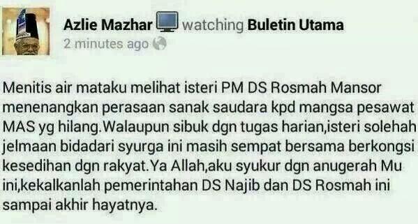 Rosmah Mirip Bidadari Syurga?