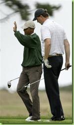 golf clubbing