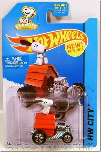 Snoopy Red Baron Hot Wheels 2014 by HW City (Image from eBay)