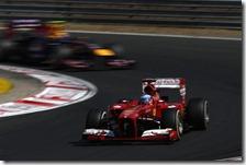 Alonso precede Webber nel gran premio d'Ungheria 2013