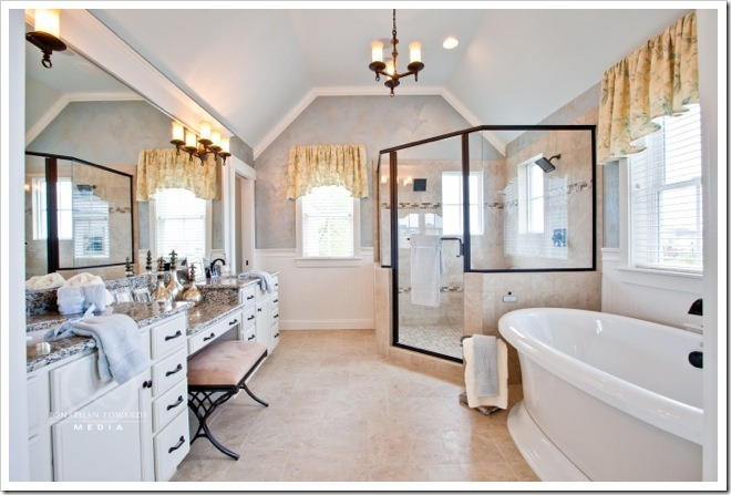 Master Bathroom -Decorating a Dream Home - www.sandandsisal.com1